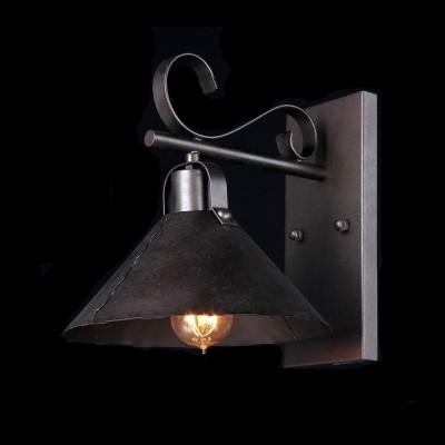 Светильник Maytoni H104-01-R House 8Кованые<br><br><br>S освещ. до, м2: 4<br>Тип лампы: накаливания / энергосбережения / LED-светодиодная<br>Тип цоколя: E27<br>Количество ламп: 1<br>Ширина, мм: 250<br>MAX мощность ламп, Вт: 60<br>Выступ, мм: 320<br>Расстояние от стены, мм: 320<br>Высота, мм: 290<br>Цвет арматуры: коричневый