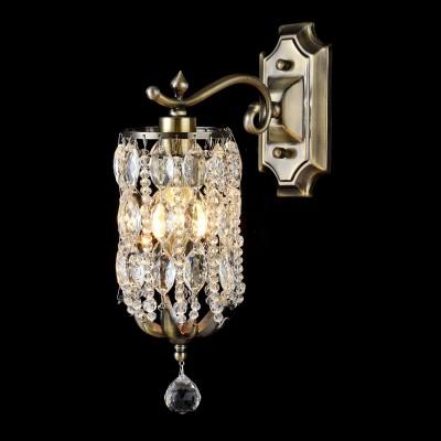 Бра Maytoni H107-01-R RondaХрустальные<br><br><br>Тип лампы: накаливания / энергосбережения / LED-светодиодная<br>Тип цоколя: E14<br>Количество ламп: 1<br>MAX мощность ламп, Вт: 60<br>Диаметр, мм мм: 110<br>Высота, мм: 360<br>Цвет арматуры: бронзовый