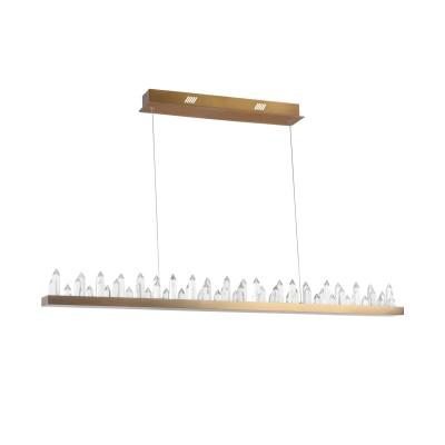 Люстра Maytoni H186-PL-01-53W-BS GletscherПодвесные<br><br><br>Тип лампы: Накаливания / энергосбережения / светодиодная<br>Тип цоколя: LED 4770 LM<br>Цвет арматуры: Латунь<br>Ширина, мм: 1150<br>Глубина, мм: 90<br>Высота, мм: 1600<br>MAX мощность ламп, Вт: 53