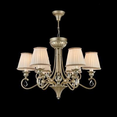 Люстра Maytoni H258-PL-06-G ValbonneПодвесные<br><br><br>S освещ. до, м2: 12<br>Тип лампы: Накаливания / энергосбережения / светодиодная<br>Тип цоколя: E14<br>Цвет арматуры: Серебристый с золотым патинированием<br>Количество ламп: 6<br>Диаметр, мм мм: 700<br>Высота, мм: 500 - 1500<br>Оттенок (цвет): Серебро с золотым патинированием<br>MAX мощность ламп, Вт: 40