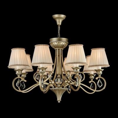Люстра Maytoni H258-PL-08-G ValbonneПодвесные<br><br><br>Тип лампы: Накаливания / энергосбережения / светодиодная<br>Тип цоколя: E14<br>Количество ламп: 8<br>MAX мощность ламп, Вт: 40<br>Диаметр, мм мм: 800<br>Высота, мм: 500 - 1500<br>Оттенок (цвет): Серебро с золотым патинированием<br>Цвет арматуры: Серебро с золотым патинированием