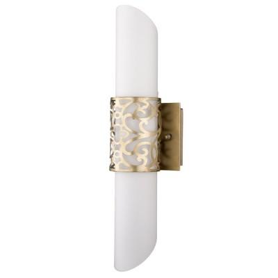 Светильник бра Maytoni H260-02-N House Veneraсовременные бра модерн<br><br><br>S освещ. до, м2: 5<br>Тип лампы: накаливания / энергосбережения / LED-светодиодная<br>Тип цоколя: E14<br>Цвет арматуры: золотой<br>Количество ламп: 2<br>Ширина, мм: 120<br>Выступ, мм: 110<br>Расстояние от стены, мм: 110<br>Высота, мм: 460<br>MAX мощность ламп, Вт: 40