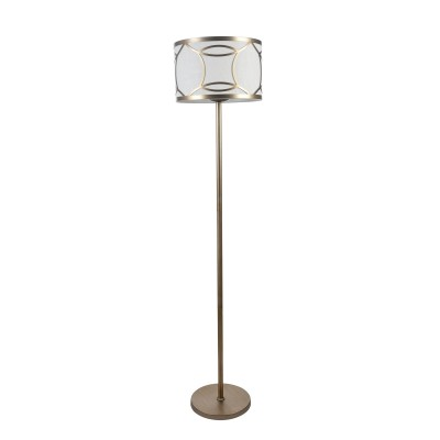 Торшер Maytoni H310-FL-01-G FibiСовременные торшеры<br><br><br>Тип лампы: Накаливания / энергосбережения / светодиодная<br>Тип цоколя: E27<br>Цвет арматуры: Кварцевый золотой<br>Количество ламп: 1<br>Диаметр, мм мм: 381<br>Высота, мм: 1727<br>MAX мощность ламп, Вт: 100