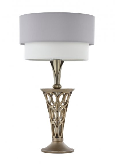 Настольная лампа Maytoni H311-11-G LillianСовременные<br>Настольная лампа – это не просто источник дополнительного освещения, но и оригинальный элемент декора. Его можно установить в спальне, гостиной, кабинете и других комнатах. Интернет-магазин «Светодом» предлагает настольные лампы разных стилей по доступным ценам. Благодаря большому ассортименту Вы обязательно найдете в нашем каталоге именно ту модель, которую искали. <br> Настольная лампа Maytoni H311-11-G – прекрасный вариант для завершения интерьера. Ее можно включить одновременно с люстрой для более яркого освещения или без нее для создания уютной атмосферы, настраивающей на отдых. <br> Купить настольную лампу Maytoni H311-11-G Вы можете с помощью виртуальной «Корзины» или по контактным номерам, указанным на сайте.<br><br>Тип цоколя: E27<br>Количество ламп: 1<br>Диаметр, мм мм: 280<br>Высота, мм: 504<br>MAX мощность ламп, Вт: 60