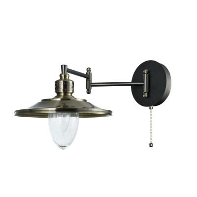 Бра Maytoni H349-WL-01-BZ Sennaбра в морском стиле<br><br><br>Тип лампы: Накаливания / энергосбережения / светодиодная<br>Тип цоколя: E14<br>Цвет арматуры: бронзовый<br>Количество ламп: 1<br>Ширина, мм: 251<br>Глубина, мм: 474<br>Высота, мм: 253<br>MAX мощность ламп, Вт: 60