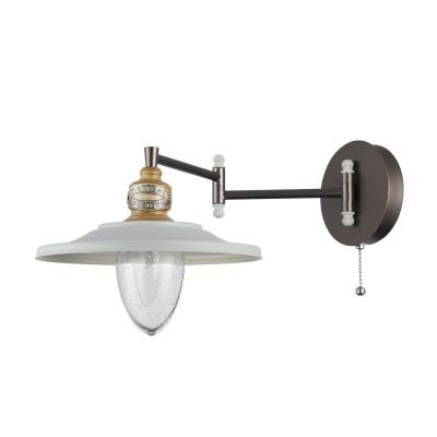 Бра Maytoni H349-WL-01-W SennaМорской стиль<br><br><br>Тип лампы: Накаливания / энергосбережения / светодиодная<br>Тип цоколя: E14<br>Цвет арматуры: никель серебристый<br>Количество ламп: 1<br>Ширина, мм: 251<br>Глубина, мм: 474<br>Высота, мм: 253<br>MAX мощность ламп, Вт: 60