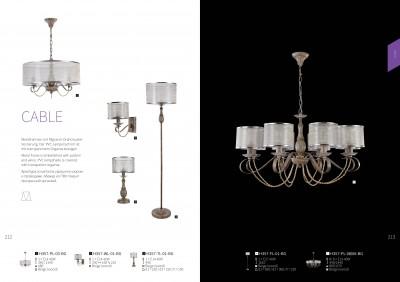Люстра Maytoni H357-PL-08-BG CableОжидается<br><br><br>Тип цоколя: E14<br>Цвет арматуры: Бежевый ( дерево )<br>Количество ламп: 8<br>Глубина, мм: 800<br>Оттенок (цвет): Бежевый ( дерево )<br>MAX мощность ламп, Вт: 40
