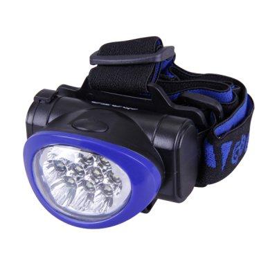 Фонарь ФАZА H4-L10-3AAA (син.)Налобные<br>10 белых светодиодов в индивидуальных отражателях.<br>Регулируемый угол наклона фонаря.<br>3 режима работы (10 светодиодов, 4 светодиода, мигающий)<br><br>Тип товара: фонари<br>Тип лампы: LED<br>Ширина, мм: 59<br>Длина, мм: 69<br>Высота, мм: 50