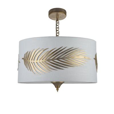 Люстра Maytoni H428-PL-03-WG FarnПодвесные<br><br><br>S освещ. до, м2: 6<br>Тип лампы: накаливания / энергосбережения / LED-светодиодная<br>Тип цоколя: E14<br>Цвет арматуры: золотой<br>Количество ламп: 3<br>Глубина, мм: 400<br>Оттенок (цвет): золотой<br>MAX мощность ламп, Вт: 40
