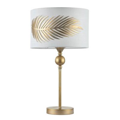 Настольная лампа Maytoni H428-TL-01-WG FarnФлористика<br><br><br>Тип цоколя: E14<br>Цвет арматуры: золотой<br>Количество ламп: 1<br>Глубина, мм: 275<br>Оттенок (цвет): золотой<br>MAX мощность ламп, Вт: 40