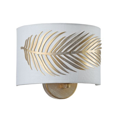 Светильник бра Maytoni H428-WL-01-WG Farnбра флористика и цветы<br><br><br>Тип цоколя: E14<br>Цвет арматуры: золотой<br>Количество ламп: 1<br>Ширина, мм: 120<br>Диаметр, мм мм: 190<br>Оттенок (цвет): золотой<br>MAX мощность ламп, Вт: 40