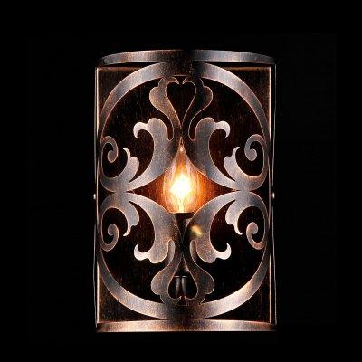 Светильник Maytoni H899-01-R H899Современные<br><br><br>S освещ. до, м2: 4<br>Тип лампы: накаливания / энергосбережения / LED-светодиодная<br>Тип цоколя: E14<br>Количество ламп: 1<br>Ширина, мм: 180<br>MAX мощность ламп, Вт: 60<br>Расстояние от стены, мм: 180<br>Высота, мм: 270<br>Цвет арматуры: коричневый
