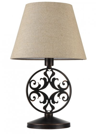 Настольная лампа Maytoni H899-22-R RustikaСовременные<br>Настольная лампа – это не просто источник дополнительного освещения, но и оригинальный элемент декора. Его можно установить в спальне, гостиной, кабинете и других комнатах. Интернет-магазин «Светодом» предлагает настольные лампы разных стилей по доступным ценам. Благодаря большому ассортименту Вы обязательно найдете в нашем каталоге именно ту модель, которую искали.   Настольная лампа Maytoni H899-22-R – прекрасный вариант для завершения интерьера. Ее можно включить одновременно с люстрой для более яркого освещения или без нее для создания уютной атмосферы, настраивающей на отдых.   Купить настольную лампу Maytoni H899-22-R Вы можете с помощью виртуальной «Корзины» или по контактным номерам, указанным на сайте.<br><br>Тип цоколя: E27<br>Количество ламп: 1<br>MAX мощность ламп, Вт: 40<br>Диаметр, мм мм: 350<br>Высота, мм: 580