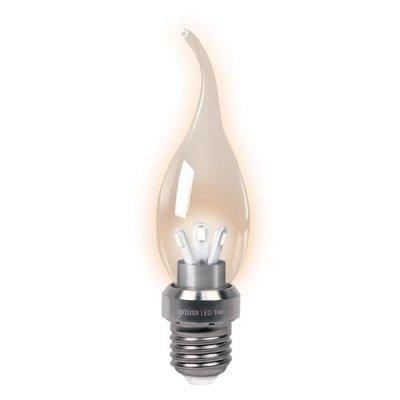 Лампа Gauss LED BXS35 Candle Tailed Crystal clear 3W E27 2700K НА104202103В виде свечи<br><br><br>Тип товара: лампа светодиодная LED<br>Тип лампы: LED - светодиодная<br>Тип цоколя: E27<br>MAX мощность ламп, Вт: 3