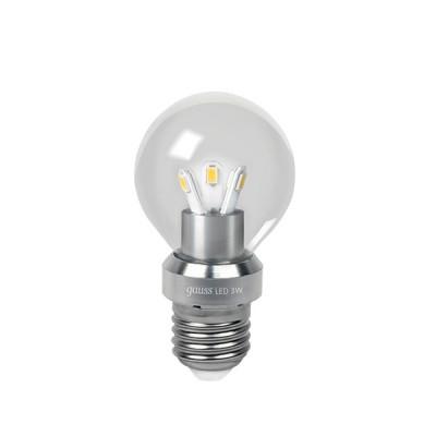 Лампа Gauss НА105202203 LED P45 Globe Crystal clear 3W E27 4100K