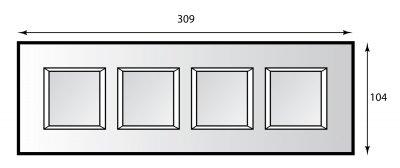 Legrand Bticino Axolute HA4802M4HVBB Белое стекло Рамка 2+2+2+2 мод прямоугольная горизонтальнаяBT Axolute White glass/VBB<br>Технические характеристики<br>Цвет: Белое стекло.<br>Форма: Прямоугольник.<br>Ориентация: Горизонтальная.<br>Размер: 2+2+2+2 модуля.<br>Дополнительная информация:<br>Рамка.<br><br>Оттенок (цвет): белый