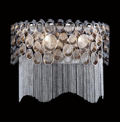 Светильник настенный бра Crystal lux HAUBERK AP2 1960/402современные бра модерн<br><br><br>Тип цоколя: E27<br>Цвет арматуры: Серебристый никель<br>Количество ламп: 2<br>Ширина, мм: 150<br>Длина, мм: 300<br>Высота, мм: 230<br>MAX мощность ламп, Вт: 60