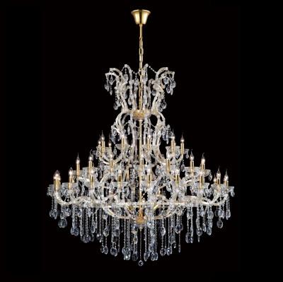 Люстра Crystal lux HOLLYWOOD SP53 GOLD 2011/353подвесные хрустальные люстры<br>Компания «Светодом» предлагает широкий ассортимент люстр от известных производителей. Представленные в нашем каталоге товары выполнены из современных материалов и обладают отличным качеством. Благодаря широкому ассортименту Вы сможете найти у нас люстру под любой интерьер. Мы предлагаем как классические варианты, так и современные модели, отличающиеся лаконичностью и простотой форм.  Стильная люстра Crystal lux HOLLYWOOD SP53 GOLD станет украшением любого дома. Эта модель от известного производителя не оставит равнодушным ценителей красивых и оригинальных предметов интерьера. Люстра Crystal lux HOLLYWOOD SP53 GOLD обеспечит равномерное распределение света по всей комнате. При выборе обратите внимание на характеристики, позволяющие приобрести наиболее подходящую модель. Купить понравившуюся люстру по доступной цене Вы можете в интернет-магазине «Светодом».<br><br>Установка на натяжной потолок: Да<br>S освещ. до, м2: 106<br>Тип цоколя: E14<br>Цвет арматуры: Золотой/Прозрачный<br>Количество ламп: 53<br>Диаметр, мм мм: 1400<br>Длина цепи/провода, мм: 1000<br>Высота, мм: 1500<br>MAX мощность ламп, Вт: 40