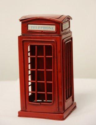 CJ13102 Сувенир Телефонная будка, 31*13*13см, металлПодарки и сувениры<br><br>