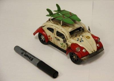 CJ110420 Сувенир Ретро Авто Жук с доской для серфинга, 18*7,5*9см, металлПодарки и сувениры<br><br>