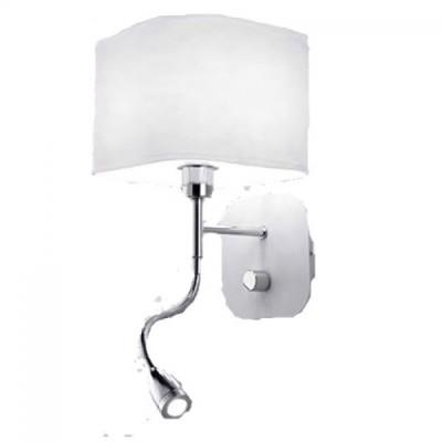 Светильник бра Ideal Lux HOLIDAY AP2 BIANCOСовременные<br><br><br>Тип цоколя: Е14+LED<br>Количество ламп: 2<br>Диаметр, мм мм: 180<br>Высота, мм: 400<br>MAX мощность ламп, Вт: 40+1