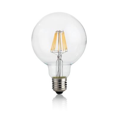 Лампочка Ideal lux LED CLASSIC E27 8W GLOBO D95 TRASPARENTE 3000KОжидается<br><br><br>Цветовая t, К: 3000<br>Тип цоколя: E27<br>MAX мощность ламп, Вт: 8
