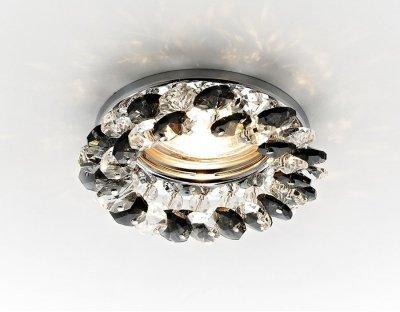 Встраиваемый светильник Ambrella K206 BK/CHВстраиваемые хрустальные светильники<br>Встраиваемые светильники – популярное осветительное оборудование, которое можно использовать в качестве основного источника или в дополнение к люстре. Они позволяют создать нужную атмосферу атмосферу и привнести в интерьер уют и комфорт.   Интернет-магазин «Светодом» предлагает стильный встраиваемый светильник Ambrella K206 BK/CH. Данная модель достаточно универсальна, поэтому подойдет практически под любой интерьер. Перед покупкой не забудьте ознакомиться с техническими параметрами, чтобы узнать тип цоколя, площадь освещения и другие важные характеристики.   Приобрести встраиваемый светильник Ambrella K206 BK/CH в нашем онлайн-магазине Вы можете либо с помощью «Корзины», либо по контактным номерам. Мы развозим заказы по Москве, Екатеринбургу и остальным российским городам.<br><br>S освещ. до, м2: 2,5<br>Тип лампы: галогенная<br>Тип цоколя: GU5.3<br>Цвет арматуры: серебристый<br>Количество ламп: 1<br>Диаметр, мм мм: 90<br>Диаметр врезного отверстия, мм: 60<br>Высота, мм: 25<br>MAX мощность ламп, Вт: 50