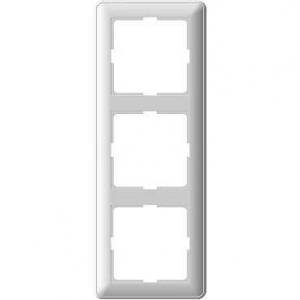 Рамка Wessen 59 трехместная матовый хром (KD-3-58)Мат хром<br>для скрытой установки<br><br>Оттенок (цвет): серебристый