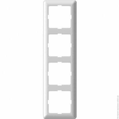Рамка Wessen 59 четырехместная матовый хром (KD-4-58)Мат хром<br>для скрытой установки<br><br>Оттенок (цвет): серебристый