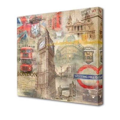 Постер на стену Лондон L-1011H ToppostersПостеры на стену<br>Габариты: 50х50х2 см. Состав: Холст, подрамник из МДФ. Упаковка: Защитные уголки и термоусадочная пленка, размер 51х51х2,5 см.<br><br>Тип товара: Постер на стену