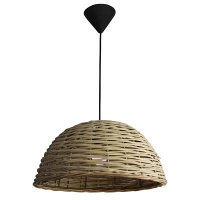 Подвес Lamplandia L4001-1 EkoПодвесные<br>Вид светильника: потолочный<br>Размер: 38 x 38 x 22/100<br>Мощность: 1*E27*60W<br>Материал: Пластик ABS, Ротанг<br><br>Установка на натяжной потолок: Да<br>S освещ. до, м2: 3<br>Крепление: потолочный<br>Тип лампы: Накаливания / энергосбережения / светодиодная<br>Тип цоколя: E27<br>Цвет арматуры: черный<br>Количество ламп: 1<br>Диаметр, мм мм: 380<br>Высота, мм: 220 - 500<br>MAX мощность ламп, Вт: 60