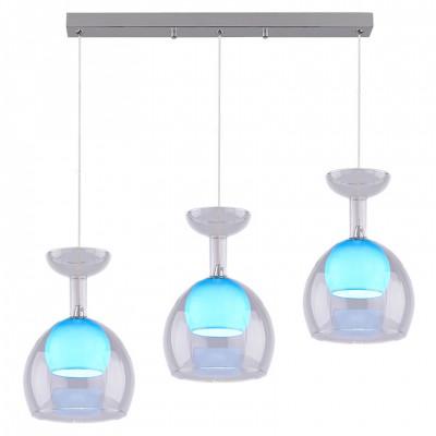 Светильник подвесной LAGUNE03 PLL0010305BL металл, стекло SMD LED 3*5WТройные<br>Подвесной светильник – это универсальный вариант, подходящий для любой комнаты. Сегодня производители предлагают огромный выбор таких моделей по самым разным ценам. В каталоге интернет-магазина «Светодом» мы собрали большое количество интересных и оригинальных светильников по выгодной стоимости. Вы можете приобрести их с доставкой в Москву, Екатеринбург и любой другой город России.  Подвесной светильник Luminarte LAGUNE03 PLL0010305BL сразу же привлечет внимание Ваших гостей благодаря стильному исполнению. Благородный дизайн позволит использовать эту модель практически в любом интерьере. Она обеспечит достаточно света и при этом легко монтируется. Чтобы купить подвесной светильник Luminarte LAGUNE03 PLL0010305BL, воспользуйтесь формой на нашем сайте или позвоните менеджерам интернет-магазина.<br><br>Тип цоколя: SMD LED<br>MAX мощность ламп, Вт: 5<br>Размеры: 60*135*1150<br>Оттенок (цвет): белый, голубой