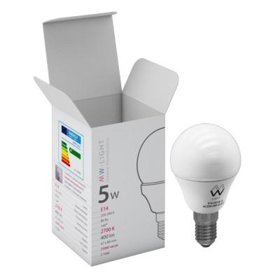 Светодиодная лампа Mw light LBMW14A01 SMDСтандартный вид<br>В интернет-магазине «Светодом» можно купить не только люстры и светильники, но и лампочки. В нашем каталоге представлены светодиодные, галогенные, энергосберегающие модели и лампы накаливания. В ассортименте имеются изделия разной мощности, поэтому у нас Вы сможете приобрести все необходимое для освещения.   Лампа Mw-light LBMW14A01 обеспечит отличное качество освещения. При покупке ознакомьтесь с параметрами в разделе «Характеристики», чтобы не ошибиться в выборе. Там же указано, для каких осветительных приборов Вы можете использовать лампу Mw-light LBMW14A01Mw-light LBMW14A01.   Для оформления покупки воспользуйтесь «Корзиной». При наличии вопросов Вы можете позвонить нашим менеджерам по одному из контактных номеров. Мы доставляем заказы в Москву, Екатеринбург и другие города России.<br><br>S освещ. до, м2: 2<br>Цветовая t, К: WW - теплый белый 2700-3000 К<br>Тип лампы: LED - светодиодная<br>Тип цоколя: E14<br>MAX мощность ламп, Вт: 5<br>Общая мощность, Вт: 5