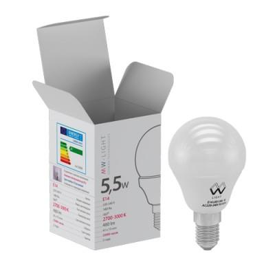 LBMW14G01 Mw light ЛампочкаСтандартный вид<br><br><br>Цветовая t, К: 2700<br>Тип лампы: LED<br>Тип цоколя: E14<br>MAX мощность ламп, Вт: 5.5