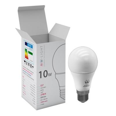 Светодиодная лампа Mw light LBMW27A04 SMDСтандартный вид<br>В интернет-магазине «Светодом» можно купить не только люстры и светильники, но и лампочки. В нашем каталоге представлены светодиодные, галогенные, энергосберегающие модели и лампы накаливания. В ассортименте имеются изделия разной мощности, поэтому у нас Вы сможете приобрести все необходимое для освещения.   Лампа Mw-light LBMW27A04 обеспечит отличное качество освещения. При покупке ознакомьтесь с параметрами в разделе «Характеристики», чтобы не ошибиться в выборе. Там же указано, для каких осветительных приборов Вы можете использовать лампу Mw-light LBMW27A04Mw-light LBMW27A04.   Для оформления покупки воспользуйтесь «Корзиной». При наличии вопросов Вы можете позвонить нашим менеджерам по одному из контактных номеров. Мы доставляем заказы в Москву, Екатеринбург и другие города России.<br><br>Цветовая t, К: WW - теплый белый 2700-3000 К<br>Тип лампы: LED - светодиодная<br>Тип цоколя: E27<br>MAX мощность ламп, Вт: 10<br>Диаметр, мм мм: 60<br>Высота, мм: 108<br>Общая мощность, Вт: 10