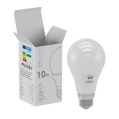 LBMW27A09 Mw light ЛампочкаСтандартный вид<br><br><br>Цветовая t, К: 2700<br>Тип лампы: LED<br>Тип цоколя: E27<br>MAX мощность ламп, Вт: 10