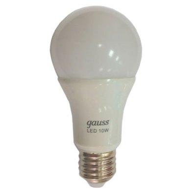 Лампа Gauss LED A55 Globe 10W 3000K LD102502110Стандартный вид<br>В интернет-магазине «Светодом» можно купить не только люстры и светильники, но и лампочки. В нашем каталоге представлены светодиодные, галогенные, энергосберегающие модели и лампы накаливания. В ассортименте имеются изделия разной мощности, поэтому у нас Вы сможете приобрести все необходимое для освещения.   Лампа Gauss LD102502110 обеспечит отличное качество освещения. При покупке ознакомьтесь с параметрами в разделе «Характеристики», чтобы не ошибиться в выборе. Там же указано, для каких осветительных приборов Вы можете использовать лампу Gauss LD102502110Gauss LD102502110.   Для оформления покупки воспользуйтесь «Корзиной». При наличии вопросов Вы можете позвонить нашим менеджерам по одному из контактных номеров. Мы доставляем заказы в Москву, Екатеринбург и другие города России.<br><br>Тип лампы: LED - светодиодная<br>Тип цоколя: E27<br>MAX мощность ламп, Вт: 10