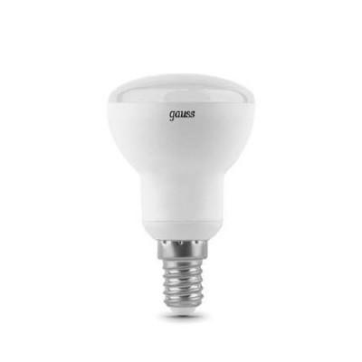 Лампа Gauss LED Reflector R50 E14 6W 2700KЗеркальные E27, E14<br>В интернет-магазине «Светодом» можно купить не только люстры и светильники, но и лампочки. В нашем каталоге представлены светодиодные, галогенные, энергосберегающие модели и лампы накаливания. В ассортименте имеются изделия разной мощности, поэтому у нас Вы сможете приобрести все необходимое для освещения.   Лампа Gauss LD106001106 LED R50 E14 6W 2700K обеспечит отличное качество освещения. При покупке ознакомьтесь с параметрами в разделе «Характеристики», чтобы не ошибиться в выборе. Там же указано, для каких осветительных приборов Вы можете использовать лампу Gauss LD106001106 LED R50 E14 6W 2700KGauss LD106001106 LED R50 E14 6W 2700K.   Для оформления покупки воспользуйтесь «Корзиной». При наличии вопросов Вы можете позвонить нашим менеджерам по одному из контактных номеров. Мы доставляем заказы в Москву, Екатеринбург и другие города России.<br><br>Цветовая t, К: WW - теплый белый 2700-3000 К<br>Тип лампы: LED - светодиодная<br>Тип цоколя: E14<br>MAX мощность ламп, Вт: 6<br>Диаметр, мм мм: 50<br>Высота, мм: 100