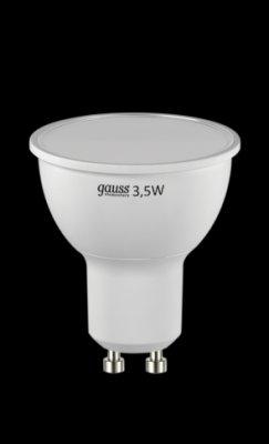 Лампа Gauss LED Elementary MR16 3,5W GU10 4100K LD13624Зеркальные Gu10<br><br><br>Цветовая t, К: CW - холодный белый 4000 К<br>Тип лампы: LED - светодиодная<br>Тип цоколя: GU10<br>Диаметр, мм мм: 50<br>Высота, мм: 57<br>MAX мощность ламп, Вт: 3,5