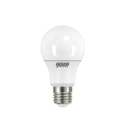 Лампа Gauss LD23227 LED Elementary A60 6.5W E27 4100K блистер 2 штСтандартный вид<br>В интернет-магазине «Светодом» можно купить не только люстры и светильники, но и лампочки. В нашем каталоге представлены светодиодные, галогенные, энергосберегающие модели и лампы накаливания. В ассортименте имеются изделия разной мощности, поэтому у нас Вы сможете приобрести все необходимое для освещения.   Лампа Gauss LD23227 LED Elementary A60 6.5W E27 4100K блистер 2 шт обеспечит отличное качество освещения. При покупке ознакомьтесь с параметрами в разделе «Характеристики», чтобы не ошибиться в выборе. Там же указано, для каких осветительных приборов Вы можете использовать лампу Gauss LD23227 LED Elementary A60 6.5W E27 4100K блистер 2 штGauss LD23227 LED Elementary A60 6.5W E27 4100K блистер 2 шт.   Для оформления покупки воспользуйтесь «Корзиной». При наличии вопросов Вы можете позвонить нашим менеджерам по одному из контактных номеров. Мы доставляем заказы в Москву, Екатеринбург и другие города России.<br><br>Цветовая t, К: CW - холодный белый 4000 К<br>Тип лампы: LED - светодиодная<br>Тип цоколя: E27<br>Количество ламп: 2<br>MAX мощность ламп, Вт: 6.5<br>Диаметр, мм мм: 60<br>Длина, мм: 110