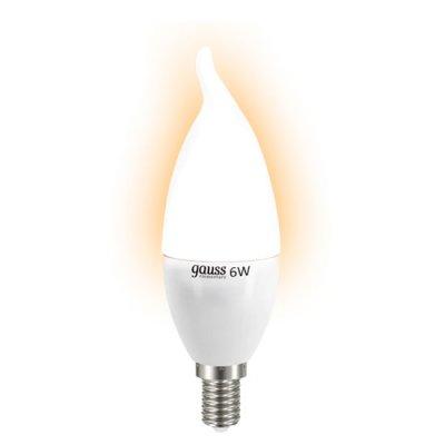 Лампа Gauss LED Elementary Candle Tailed 6W E14 2700 LD34116В виде свечи<br>В интернет-магазине «Светодом» можно купить не только люстры и светильники, но и лампочки. В нашем каталоге представлены светодиодные, галогенные, энергосберегающие модели и лампы накаливания. В ассортименте имеются изделия разной мощности, поэтому у нас Вы сможете приобрести все необходимое для освещения.   Лампа Gauss LD34116 обеспечит отличное качество освещения. При покупке ознакомьтесь с параметрами в разделе «Характеристики», чтобы не ошибиться в выборе. Там же указано, для каких осветительных приборов Вы можете использовать лампу Gauss LD34116Gauss LD34116.   Для оформления покупки воспользуйтесь «Корзиной». При наличии вопросов Вы можете позвонить нашим менеджерам по одному из контактных номеров. Мы доставляем заказы в Москву, Екатеринбург и другие города России.<br><br>Тип лампы: LED - светодиодная<br>Тип цоколя: E14<br>MAX мощность ламп, Вт: 6