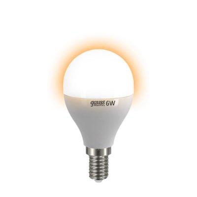 Лампа Gauss LED Elementary Шар 6W E14 420lm 3000K (53116) фото