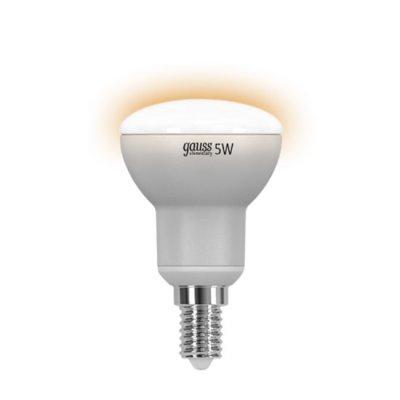 Лампа Gauss LED Elementary R50 E14 5W 4100K LD63125Снято с производства<br><br><br>Тип товара: лампа светодиодная LED<br>Тип лампы: LED - светодиодная<br>Тип цоколя: E14<br>MAX мощность ламп, Вт: 5