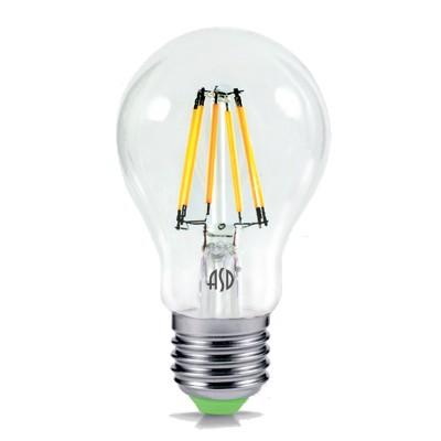 Лампа светодиодная LED-A60-deco 7Вт 230В Е27 3000К 630Лм прозрачная IN HOMEСтандартный вид<br><br><br>Цветовая t, К: 3000<br>Тип лампы: LED<br>Тип цоколя: E27<br>MAX мощность ламп, Вт: 7<br>Диаметр, мм мм: 60<br>Высота, мм: 107