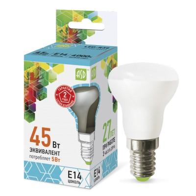 Лампа светодиодная LED-R39-standard 5Вт 230В Е14 3000К 450Лм ASDЗеркальные E27, E14<br>В интернет-магазине «Светодом» можно купить не только люстры и светильники, но и лампочки. В нашем каталоге представлены светодиодные, галогенные, энергосберегающие модели и лампы накаливания. В ассортименте имеются изделия разной мощности, поэтому у нас Вы сможете приобрести все необходимое для освещения.   Лампа LED-R39-standard 5Вт 230В Е14 3000К 450Лм ASD обеспечит отличное качество освещения. При покупке ознакомьтесь с параметрами в разделе «Характеристики», чтобы не ошибиться в выборе. Там же указано, для каких осветительных приборов Вы можете использовать лампу LED-R39-standard 5Вт 230В Е14 3000К 450Лм ASDLED-R39-standard 5Вт 230В Е14 3000К 450Лм ASD.   Для оформления покупки воспользуйтесь «Корзиной». При наличии вопросов Вы можете позвонить нашим менеджерам по одному из контактных номеров. Мы доставляем заказы в Москву, Екатеринбург и другие города России.<br><br>Цветовая t, К: 3000<br>Тип лампы: LED<br>Тип цоколя: E14<br>MAX мощность ламп, Вт: 5<br>Диаметр, мм мм: 40<br>Высота, мм: 80