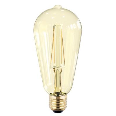 Лампа светодиодная LED-ST64-PRM 6Вт 230В Е27 3000К 540Лм золотистая IN HOMEРетро стиля<br>В интернет-магазине «Светодом» можно купить не только люстры и светильники, но и лампочки. В нашем каталоге представлены светодиодные, галогенные, энергосберегающие модели и лампы накаливания. В ассортименте имеются изделия разной мощности, поэтому у нас Вы сможете приобрести все необходимое для освещения.   Лампа LED-ST64-PRM 6Вт 230В Е27 3000К 540Лм золотистая IN HOME обеспечит отличное качество освещения. При покупке ознакомьтесь с параметрами в разделе «Характеристики», чтобы не ошибиться в выборе. Там же указано, для каких осветительных приборов Вы можете использовать лампу LED-ST64-PRM 6Вт 230В Е27 3000К 540Лм золотистая IN HOMELED-ST64-PRM 6Вт 230В Е27 3000К 540Лм золотистая IN HOME.   Для оформления покупки воспользуйтесь «Корзиной». При наличии вопросов Вы можете позвонить нашим менеджерам по одному из контактных номеров. Мы доставляем заказы в Москву, Екатеринбург и другие города России.<br><br>Цветовая t, К: 3000<br>Тип лампы: LED<br>Тип цоколя: E27<br>MAX мощность ламп, Вт: 6<br>Диаметр, мм мм: 64<br>Высота, мм: 145