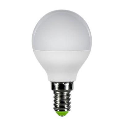 Лампа светодиодная LED-ШАР-ECO 5Вт 230В Е27 4000К 375Лм (5шт в упаковке) IN HOMEВ виде шарика<br>В интернет-магазине «Светодом» можно купить не только люстры и светильники, но и лампочки. В нашем каталоге представлены светодиодные, галогенные, энергосберегающие модели и лампы накаливания. В ассортименте имеются изделия разной мощности, поэтому у нас Вы сможете приобрести все необходимое для освещения.   Лампа LED-ШАР-ECO 5Вт 230В Е27 4000К 375Лм (5шт в упаковке) IN HOME обеспечит отличное качество освещения. При покупке ознакомьтесь с параметрами в разделе «Характеристики», чтобы не ошибиться в выборе. Там же указано, для каких осветительных приборов Вы можете использовать лампу LED-ШАР-ECO 5Вт 230В Е27 4000К 375Лм (5шт в упаковке) IN HOMELED-ШАР-ECO 5Вт 230В Е27 4000К 375Лм (5шт в упаковке) IN HOME.   Для оформления покупки воспользуйтесь «Корзиной». При наличии вопросов Вы можете позвонить нашим менеджерам по одному из контактных номеров. Мы доставляем заказы в Москву, Екатеринбург и другие города России.<br><br>Цветовая t, К: 4000<br>Тип лампы: LED<br>Тип цоколя: E14<br>Количество ламп: 5<br>MAX мощность ламп, Вт: 5<br>Диаметр, мм мм: 45<br>Высота, мм: 78