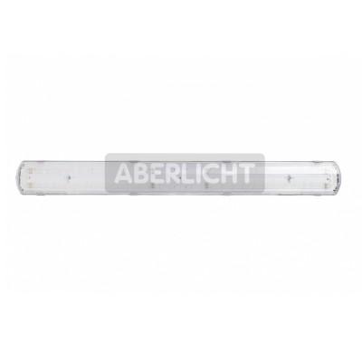 Светильник светодиодный ABERLICHT LINE OUT-50/90 AC IP65 NW, 1280x135*100mm, 52Вт, 6600Лм, (0023)Cсветодиодные потолочные светильники 600х600<br>ABERLICHT LINE OUT – 50/90 АС IP65 NW – это светодиодный промышленный светильник широкого применения.<br>Светильник является прямой заменой люминесцентных светильников ЛПО 2*58 и ЛСП 2*58, может быть использован в запыленных и влажных помещениях: цеха заводов и предприятий, хим.лабаратории, автомойки, предприятия животноводства и сельского хозяйства.<br>Корпус светильника ABERLICHT LINE OUT – 50/90 АС IP65 NW изготовлен из ударопрочного негорючего АБС-полимера, что обеспечивает светильнику малый вес, устойчивость к агрессивной химической среде и повышенную прочность.<br>Прозрачный полистирол – максимальный световой поток без потерь, не подвержен пожелтению от УФ-излучений, корпус рассеивателя прочный, легко очищается благодаря гладкой поверхности.<br>Матовый полистирол – исключает эффект ослепления, это особенно важно там, где светильник находится в непосредственной близости от рабочего места, физические свойства точно такие же, как и у прозрачного полистирола.<br>300 высокоэффективных светодиодов ABERLICHT на четырех алюминиевых платах дают суммарно 6600Лм, что делает эту модель одной из самых привлекательных на рынке светотехники.<br>Металлические крепления на корпусе светильника позволяют устанавливать светильник, как накладным, так и подвесным способом.<br>Опционально, светодиодный светильник ABERLICHT LINE OUT – 50/90 АС IP65 NW может быть выполнен с аварийными блоками питания, а также с возможностью диммирования, от 0 до 100% по протоколу 1-10В, при этом коэффициент пульсации составляет не более 0.9%.<br><br>Тип лампы: LED - светодиодная<br>Тип цоколя: LED, встроенные светодиоды<br>Ширина, мм: 135<br>Длина, мм: 1280<br>Высота, мм: 100<br>MAX мощность ламп, Вт: 52