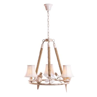 Настенный светильник LOFT 8138-3Подвесные<br><br><br>Установка на натяжной потолок: Да<br>S освещ. до, м2: 9<br>Тип лампы: Накаливания / энергосбережения / светодиодная<br>Тип цоколя: E14<br>Количество ламп: 3<br>Диаметр, мм мм: 630<br>Высота, мм: 580 - 1000<br>MAX мощность ламп, Вт: 60