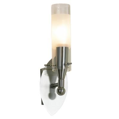 Светильник Lussole LSA-0221-01 Leinell никельСовременные<br>LSA-0221-01<br><br>S освещ. до, м2: 3<br>Тип лампы: накаливания / энергосбережения / LED-светодиодная<br>Тип цоколя: E14<br>Количество ламп: 1<br>Ширина, мм: 80<br>MAX мощность ламп, Вт: 40<br>Расстояние от стены, мм: 140<br>Высота, мм: 270<br>Оттенок (цвет): белый<br>Цвет арматуры: серый
